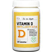 Vitamin D Kosttillskott 100st ICA Hjärtat