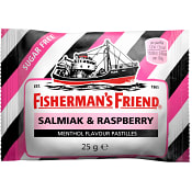 Halstablett Lakrits/Hallon Sockerfri 25g Fisherman´s Friend