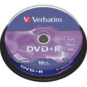 DVD+R 4.7GB 16x 10-p Verbatim