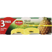 Ananasskivor i juice 3-p 660g Del Monte