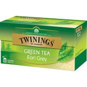 Grönt te Earl Grey 25-p Twinings