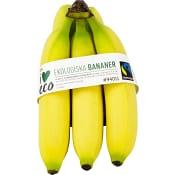 Bananer i påse ICA Eko ca 765g