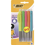 Kulspetspenna M10 Blandade färger 10-p Bic