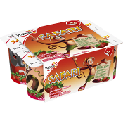 Yoghurt Safari Jordgubb & hallon 125g 6-p Yoplait