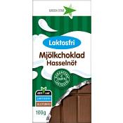 Mjölkchoklad Hasselnöt Laktosfri 100g Greenstar