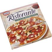 Ristorante pizza Salame mozzarella pesto Fryst 360g Dr.Oetker