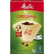 Kaffefilter Original Oblekt 1x2 40-p Miljömärkt Melitta