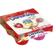 Fruktkvarg XXL Jordgubb hallon 2,9% 4-p 380g Danonino