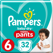 Byxblöjor 16+kg 32-p Pampers baby-dry