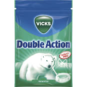 Halstablett Sockerfri Double Action Eucalyptus 72g Vicks