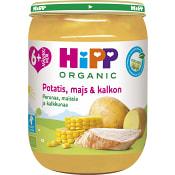 Potatis majs & kalkon Från 6m Ekologisk 190g Hipp