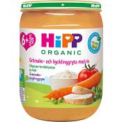 Ris grönsaker & kyckling Från 6m Ekologisk 190g Hipp