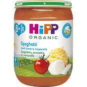 Spaghetti tomat & mozzarella Från 8m Ekologisk 190g Hipp