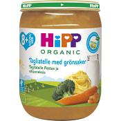 Tagliatelle & grönsaker Från 8m Ekologisk 190g Hipp