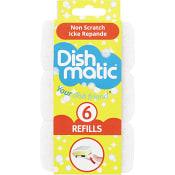 Diskborste Refill Vit 6-p Dishmatic