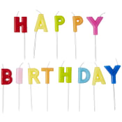 Tårtljus Happy Birthday Packers