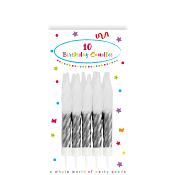 Tårtljus Silver 10-p