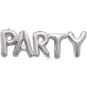 Folieballong Party Silver