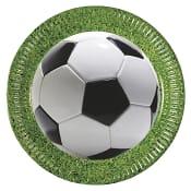 Engångstallrik Fotboll 23cm 8-p