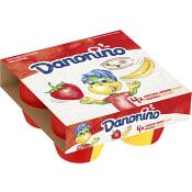 Fruktkvarg Jordgubb & banan 2,9% 4-p 380g Danonino