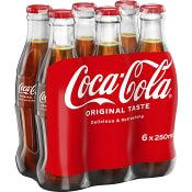 Läsk Coca-Cola Glas 25cl 6-p