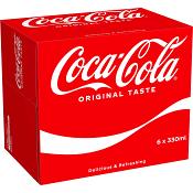 Läsk 33cl 6-p Coca-Cola