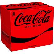 Läsk Zero 33cl 6-p Coca-Cola