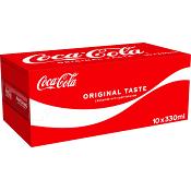 Läsk 33cl 10-p Coca-Cola