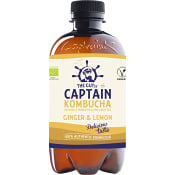 Kombucha Ginger Lemon 400ml Captain Kombucha