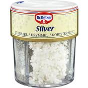Dekorströssel Silver 85g Dr.Oetker