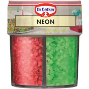 Dekorationsströssel Neon mix 100g Dr.Oetker