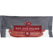 Röd Hot Dog pölse 375g Gol Pölser