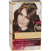 Hårfärg 5 Ljusbrun 1-p Excellence