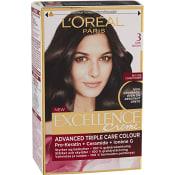 Hårfärg 3 Mörkbrun 1-p Excellence