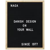 Letterboard Svart 40x50cm Naga