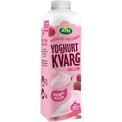 Yoghurtkvarg Hallon 1,5% 1000g Arla