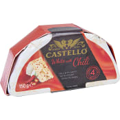 Vitmögelsost med Röd Chili 39% 150g Castello