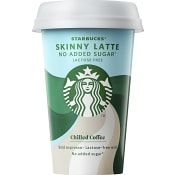 Iskaffe, Skinny Latte laktosfri, 220ml, Starbucks