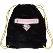 Gympapåse Svart 40x32cm Supergirl