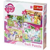 Pussel My Little Pony 4-i-1 Trefl