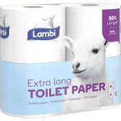Toalettpapper Extra Long 4-p Lambi