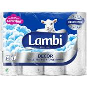 Toalettpapper Dekor 24-p Lambi
