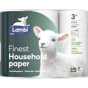 Hushållspapper Finest 3-p Lambi