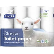 Toalettpapper Classic 12-p Lambi