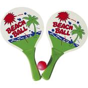 Strandtennis racket och boll
