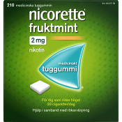 Nicorette Fruktmint Medicinskt tuggummi 2mg 210-p