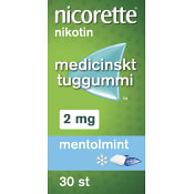 Nicorette Mentolmint Medicinskt tuggummi 2mg 30-p