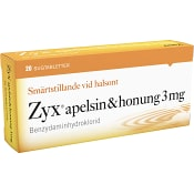 Zyx Apelsin-Honung Sugtabletter 3mg 20-p Zyx