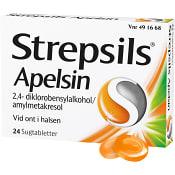 Halstablett Strepsils Apelsin 24-p