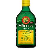 Tran Omega-3 Citronsmak Kosttillskott 250ml Möllers